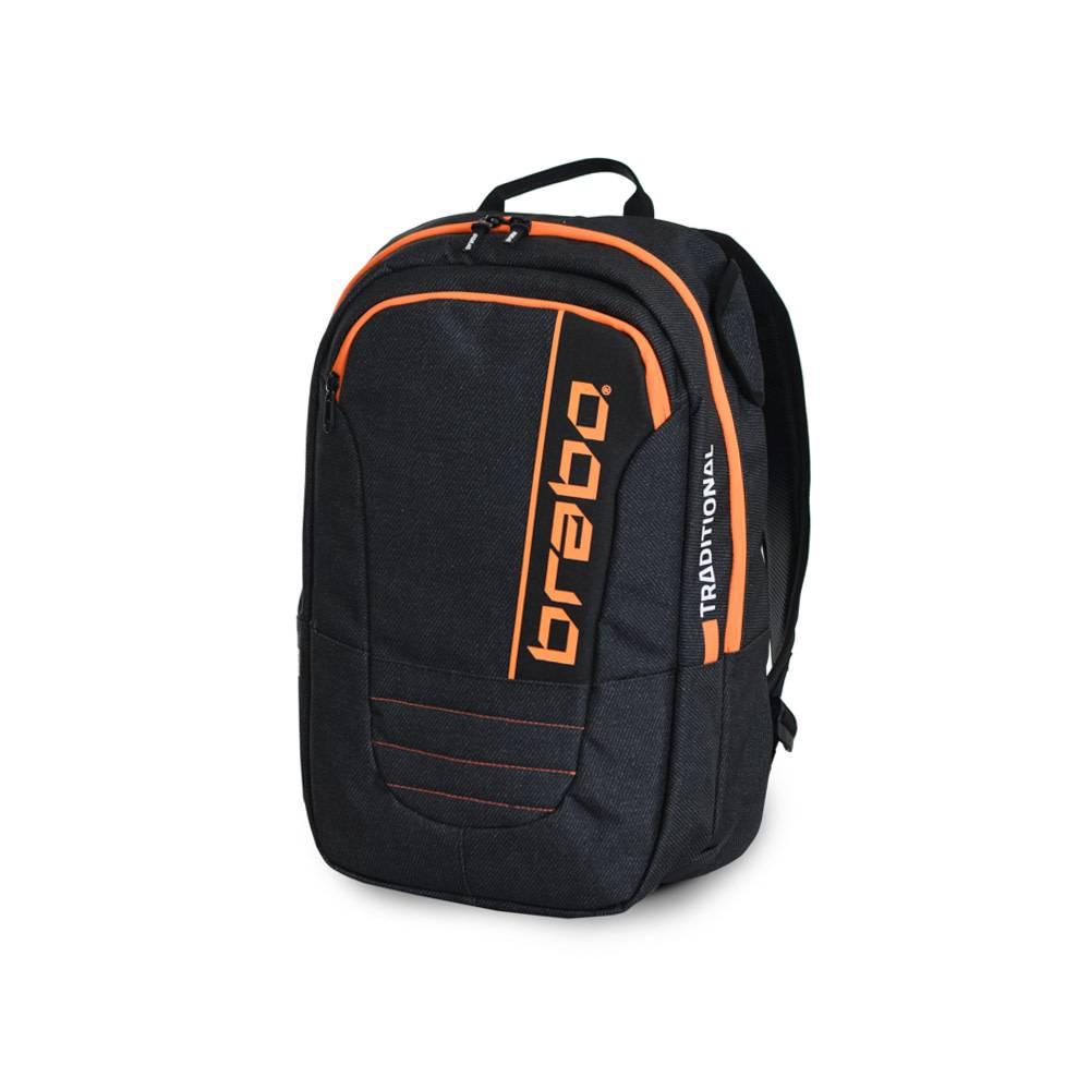 2829e2eb28f Brabo Backpack SR Traditional Denim Black/Orange, buy now! - Hockeypoint
