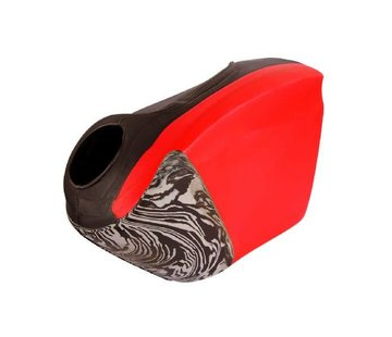 Obo ROBO Hi-Rebound Handprotector Rood/Zwart Rechts