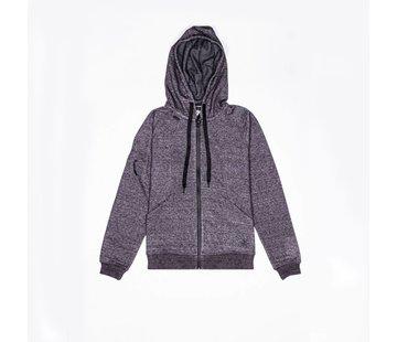 Osaka Men Techleisure Zip Hoodie – Zwart Melange