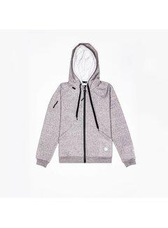 Osaka Men Techleisure Zip Hoodie – Grey Melange
