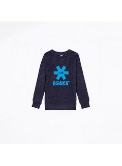 pretty nice a6e61 25f20 Osaka Deshi Sweater Kids Navy Melange-Blau Logo