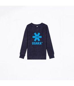 Osaka Deshi Sweater Kids Navy Melange-Blau Logo