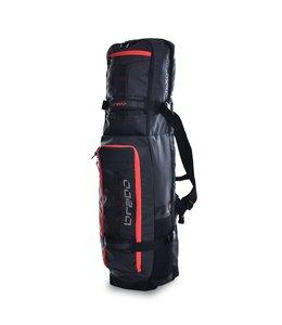 Brabo Stickbag TeXtreme Schwarz/Rot