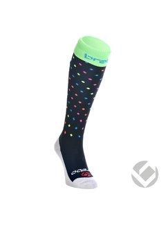 Brabo Sokken Dots Zwart/Neon