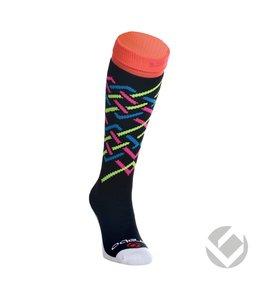 Brabo Sokken Stripes Zwart/Neon