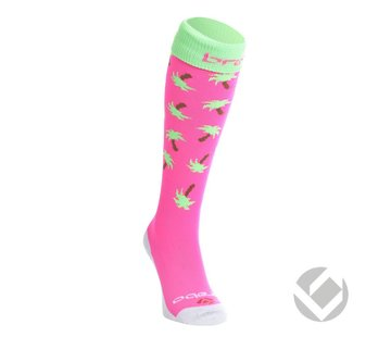 Brabo Socken Palms Rosa/Lime