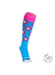 Brabo Socks Flowers Baby Blue / Pink