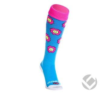 Brabo Socks Flowers Baby Blue/Pink