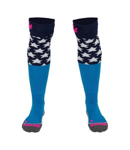 Reece Curtain Socken Blau/Neon Pink