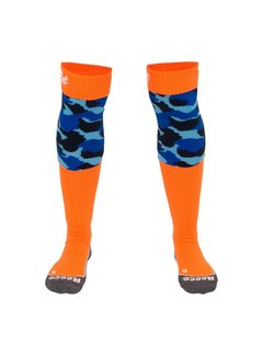 Reece Curtain Socks Blue/Orange