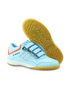Brabo Indoor Hockey Shoes Light Blue/Orange