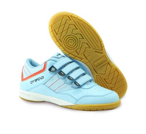 Brabo Indoor Hockey Shoe Light Blue/Orange