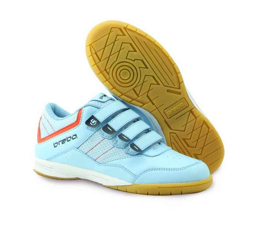 Indoor Hockey Shoe Light Blue/Orange