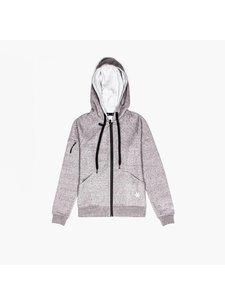 Osaka Women Techleisure Zip Hoodie – Grey Melange