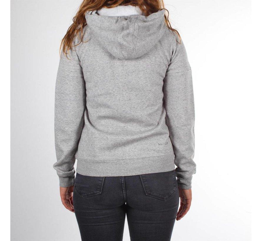 Frauen Techleisure Zip Hoodie - Grau Melange
