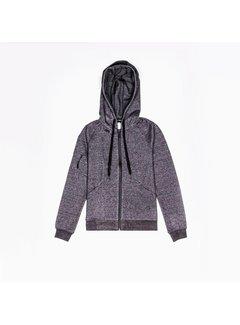 Osaka Women Techleisure Zip Hoodie - Zwart Melange