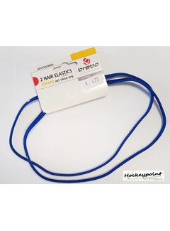 Brabo Haarband Blauw smal (2 stuks)