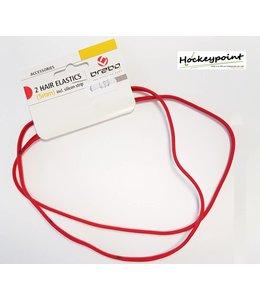 Brabo Haarband Rood smal (2 stuks)