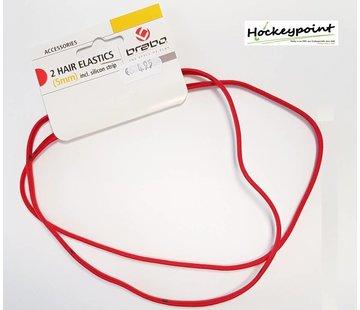 Brabo Haarband Rot Schmall (2 Stück)