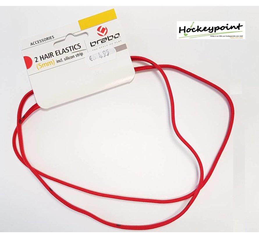 Haarband Rood smal (2 stuks)