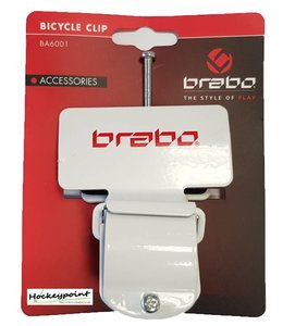 Brabo Fahrrad-Clip Weiss