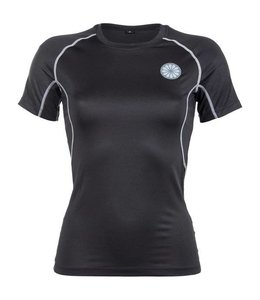 Indian Maharadja Damen First Layer Compression T-Shirt Schwarz