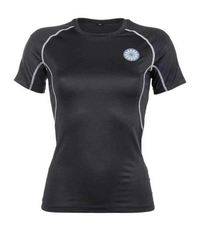 Indian Maharadja Women's First Layer Compression Tee Zwart