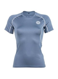 Indian Maharadja Women's First Layer Compression Tee Steel