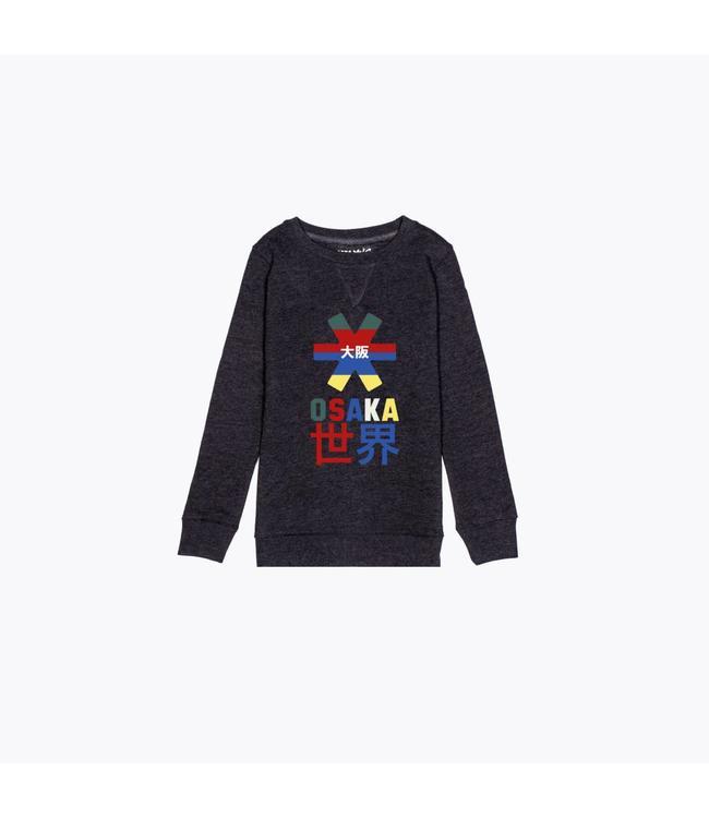 Osaka Deshi Throwback Nauthical Sweater Donkergrijs