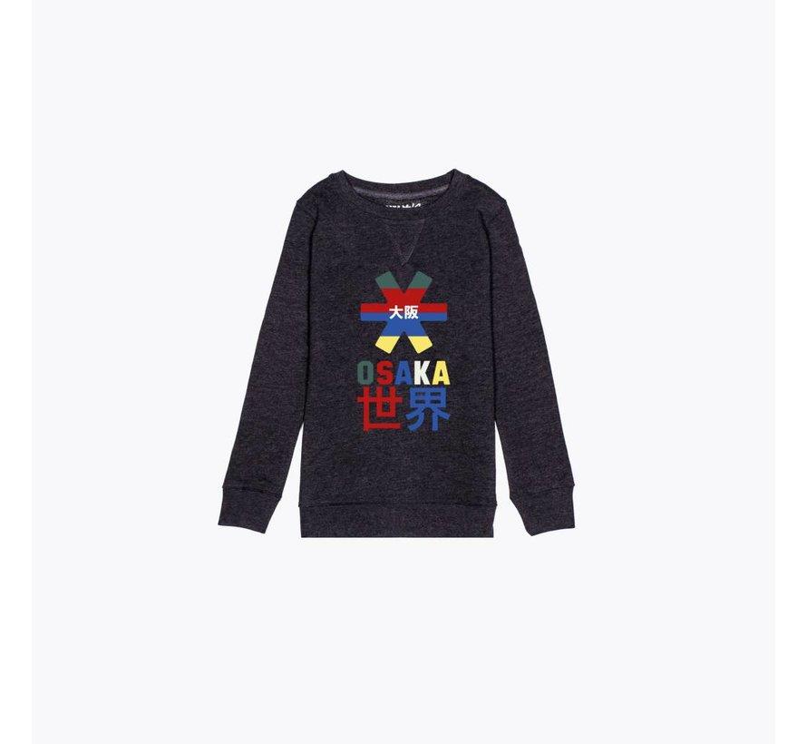 Deshi Throwback Nauthical Sweater Donkergrijs