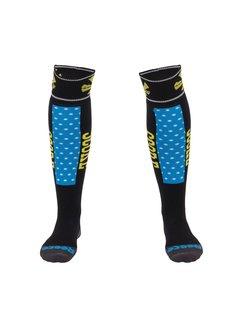 Reece Louth Socks Black/Aqua/Yellow