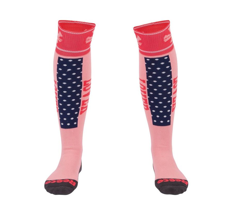 Louth Socken Coral/Navy