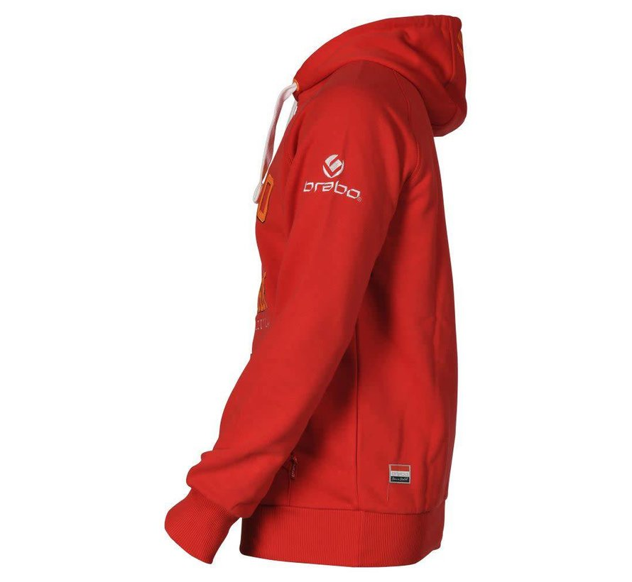 Hooded Sweat Rood Uni