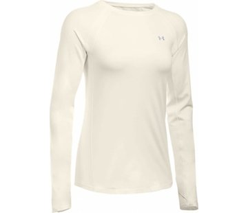 Under Armour Coldgear Armour Crew Dames Ivoor