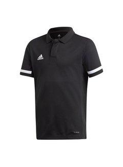 Adidas T19 Polo Jungen Schwarz
