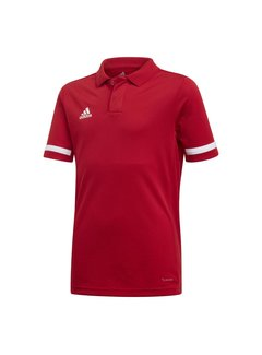 Adidas T19 Polo Jungen Rot