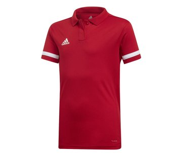Adidas T19 Polo Youth Girls Red