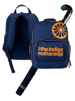 Indian Maharadja Kids Backpack Navy/Orange