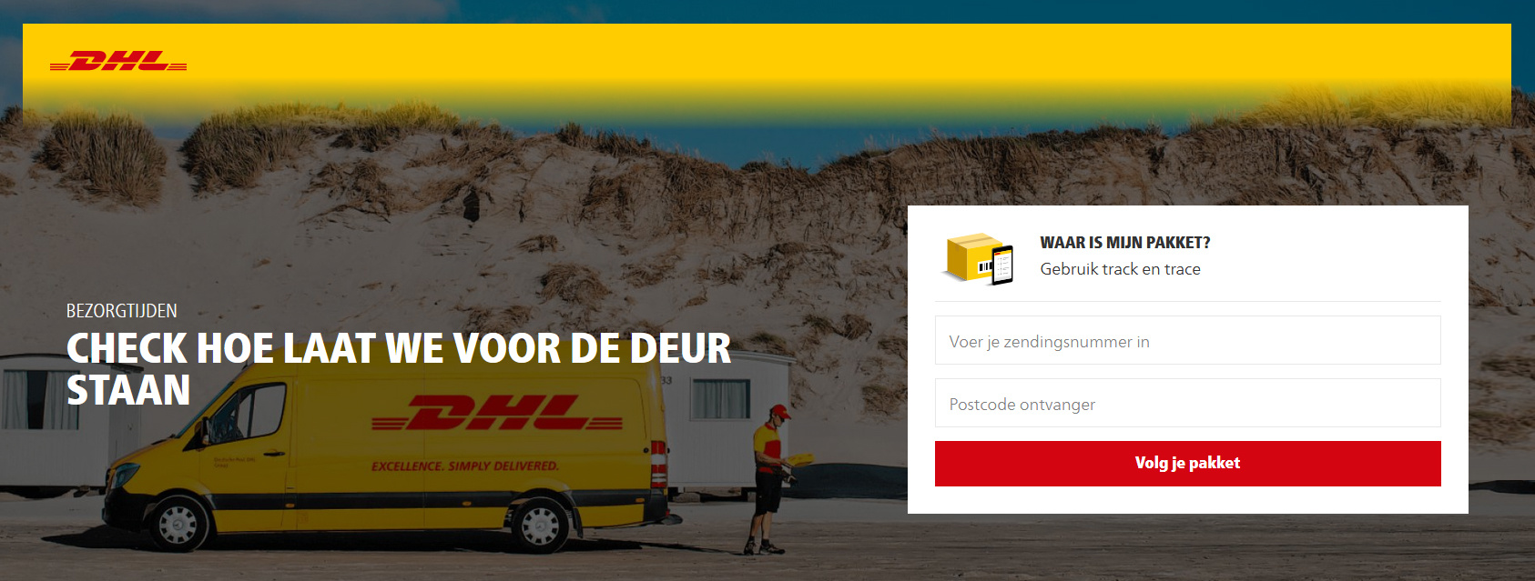 Track and trace Package with DHL and Hockeypoint