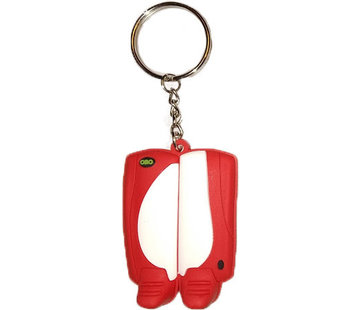 Obo Keyring Weiss/Rot