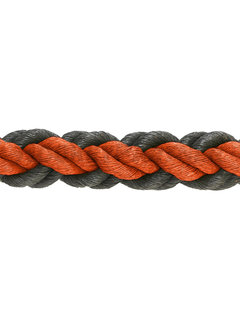 Hockeypoint Hockeyseil Orange/Schwarz 8cm pro 30  Meter ( Preis inkl. MWST )