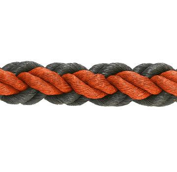 Hockeyseil Orange/Schwarz 8cm pro 30  Meter ( Preis inkl. MWST )