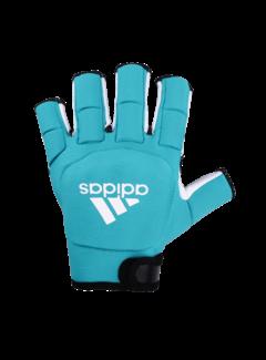 Adidas HKY OD Glove  Glow Aqua/Wit hockey handschoen
