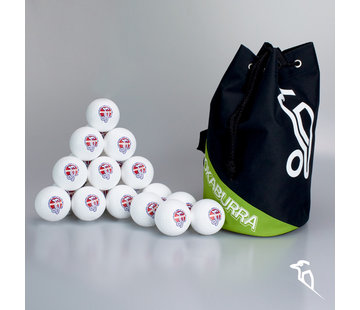 Kookaburra Combideal 24 Dimple Elite Hockeyballs White with Ballbag