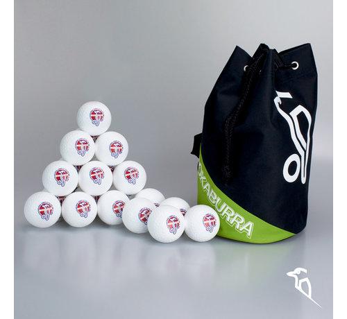Kookaburra Combideal 24 Dimple Elite Hockeyballs White with Ballbag