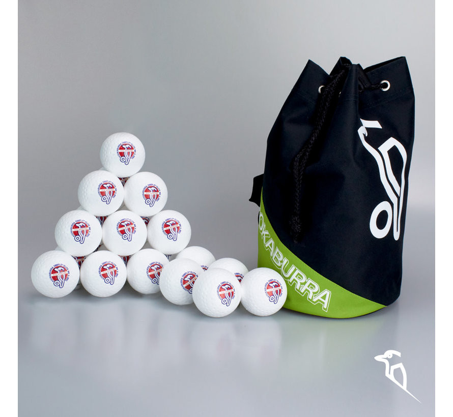 Combideal 24 Dimple Elite Hockeyballs White with Ballbag