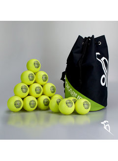 Kookaburra Combideal 24 Dimple Standard Hockeyballs Yellow with Ballbag