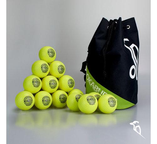 Kookaburra Combideal 24 Dimple Standard Hockeyballs Yellow with Ballbag