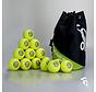 Combideal 24 Dimple Standard Hockeyballen Geel met Ballentas