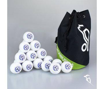 Kookaburra Combideal 24 Dimple Vision Hockeyballen Wit met Ballentas